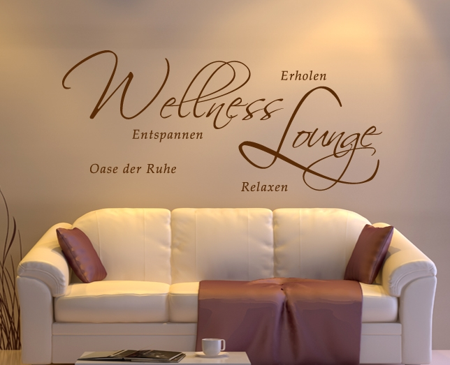 bad wellness badezimmer wandtattoo wandsticker deko wandaufkleber schablone badezimmer spruch. Black Bedroom Furniture Sets. Home Design Ideas