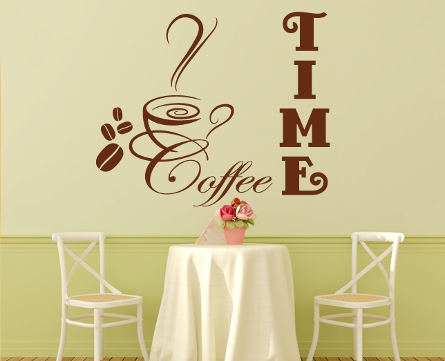wandtattoo wandsticker k che bistro coffee kaffee esszimmer. Black Bedroom Furniture Sets. Home Design Ideas