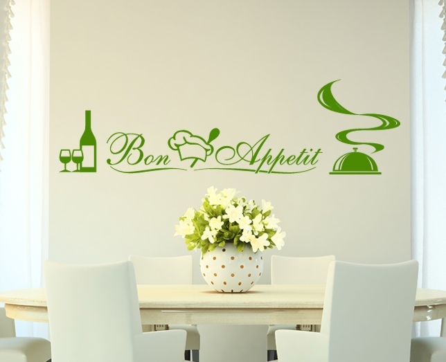 wandtattoo k che bistro deko wandsticker aufkleber. Black Bedroom Furniture Sets. Home Design Ideas
