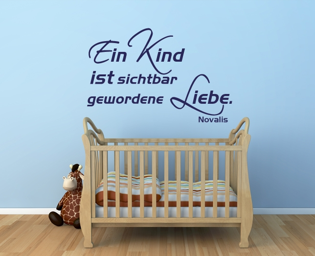wandspruch spruch kind kinderzimmer baby deko. Black Bedroom Furniture Sets. Home Design Ideas