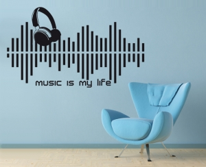 Wandtattoo - Music is my life