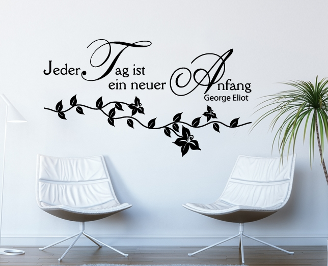 Wandtattoo Zitat Tag Motivation Spruch Deko