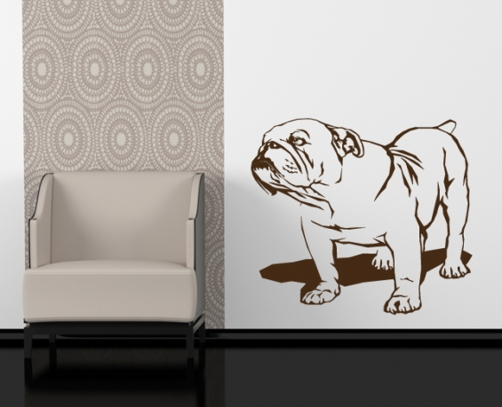wandtattoo englische bulldogge. Black Bedroom Furniture Sets. Home Design Ideas