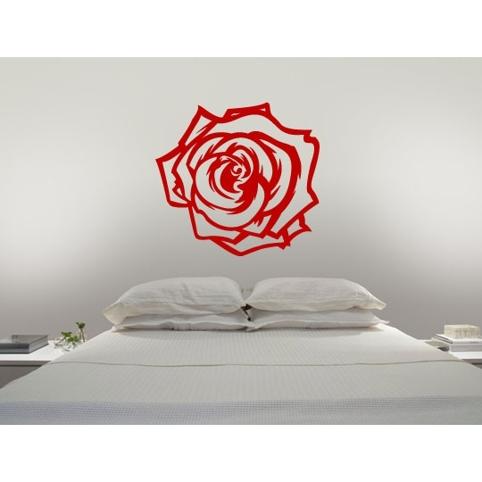 wandtattoos rose blume wand tattoos pflanze wandtattoo. Black Bedroom Furniture Sets. Home Design Ideas