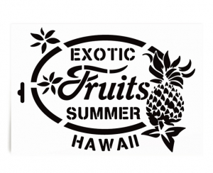 Schablone - Hawaii Exotic fruits